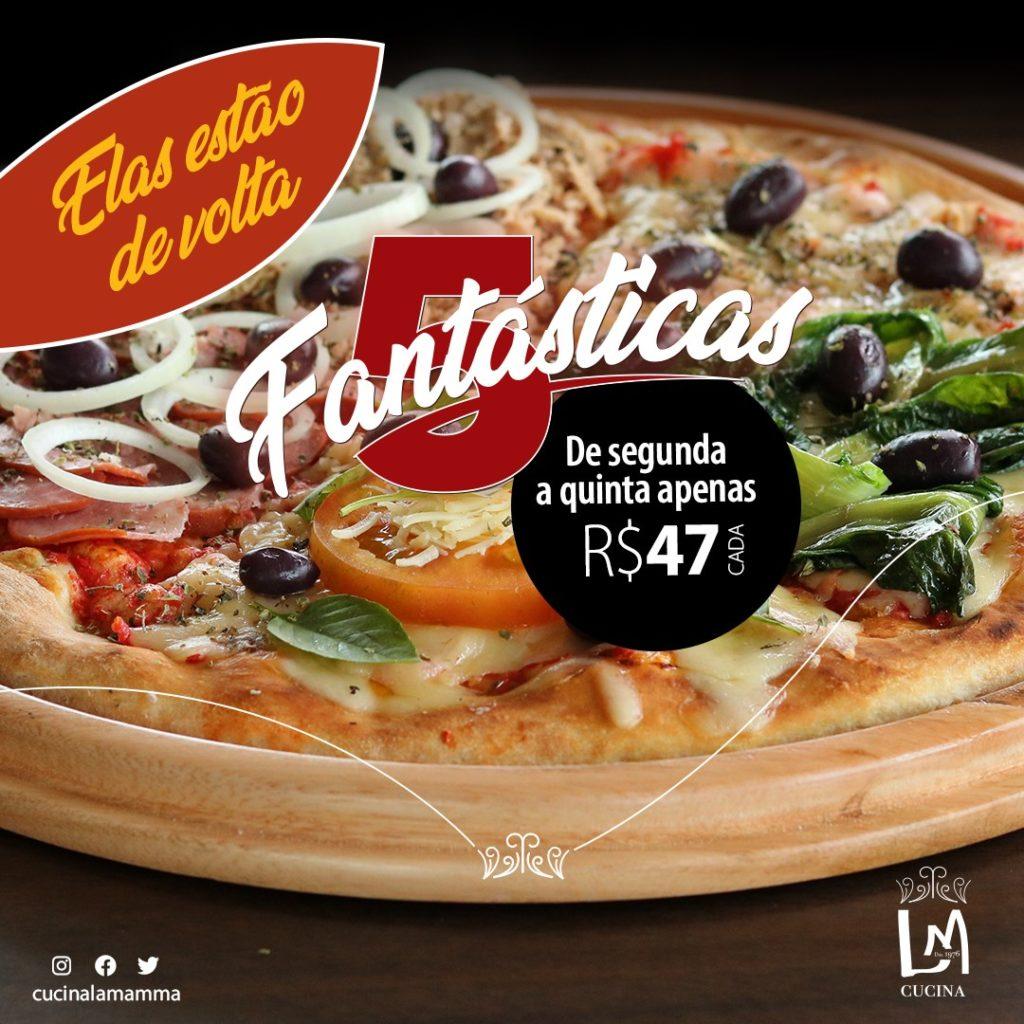 """promoção """"5 Fantásticas"""""""